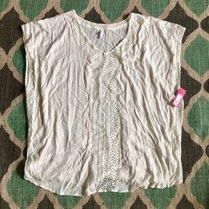 Xhilaration NWT Cream Swimsuit Cover-Up Sz XL/XXL